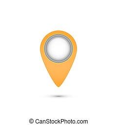 icône, vecteur, emplacement, illustration, pointer.