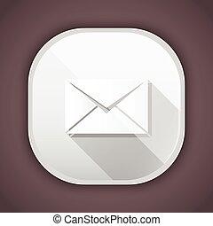 icône, vecteur, enveloppe