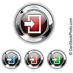 icône, vecteur, illustra, entrer, bouton