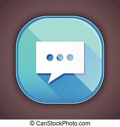 icône, vecteur, message