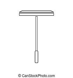 icône, vecteur, nettoyage, squeegee, fenêtre