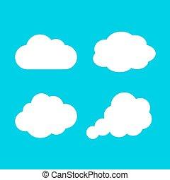 icône, vecteur, nuage