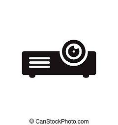 icône, vecteur, projecteur