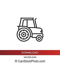 icône, vecteur, tracteur