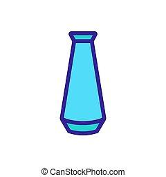 icône, vecteur, vase, décoratif, contour, élevé, illustration