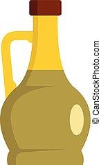 icône, verre, style, bouteille, plat