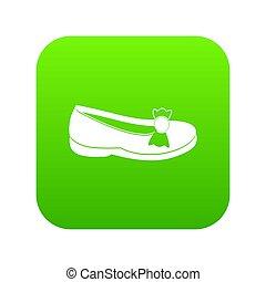 icône, vert, chaussure, numérique