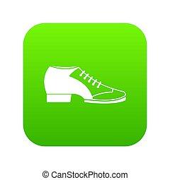 icône, vert, chaussure, tango, numérique
