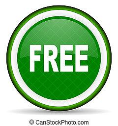 icône, vert, gratuite