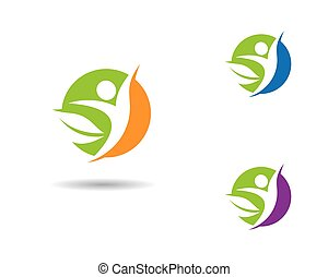 icône, vie, vecteur, sain, gabarit, logo