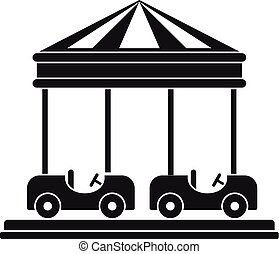 icône, voiture, style, carrousel, simple