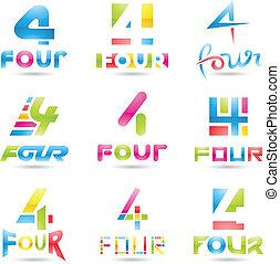 icônes, 4, nombre
