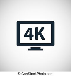 icônes, 4k, tv