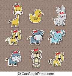 icônes, animaux