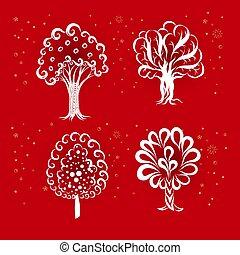 icônes, arbres