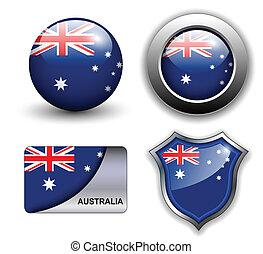 icônes, australie