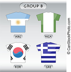 icônes, b, groupe, pays