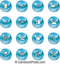 icônes bureau, business