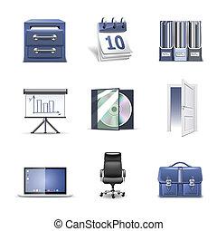 icônes bureau, série, bella, 2, |