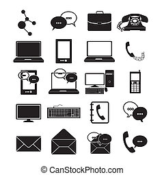 icônes, communications