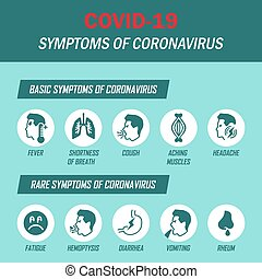 icônes, coronavirus, ensemble, infographic, arrière-plan., ...