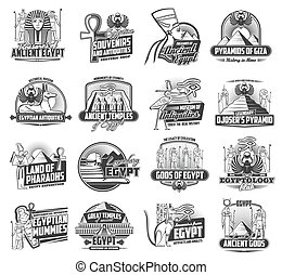 icônes, dieux, egypte, voyage, caire, ancien, tourisme