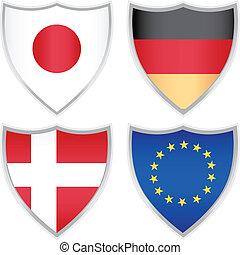 icônes, drapeau