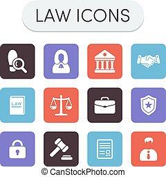 icônes, droit & loi