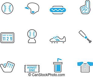 icônes, duotone, base-ball, -