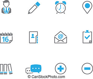 icônes, duotone, collaboration, -