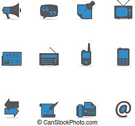 icônes, duotone, communication, -