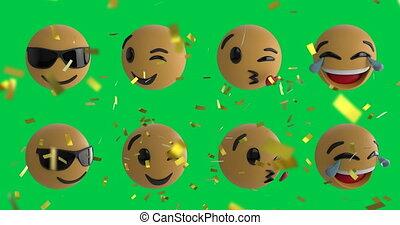 icônes, emoji, 4k