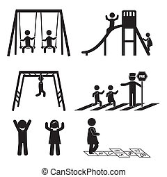 icônes, enfants