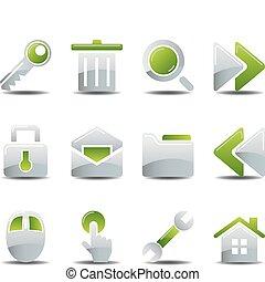 icônes, ensemble, business