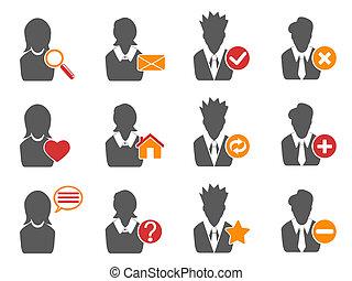 icônes, ensemble, utilisateur