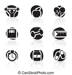 icônes, fitness