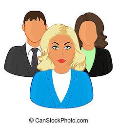 icônes, gens, réseau, -, groupe, utilisateur