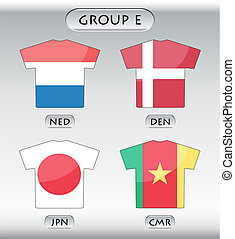 icônes, groupe, e, pays