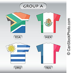 icônes, groupe, pays