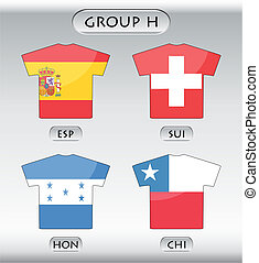 icônes, h, groupe, pays