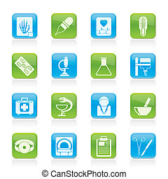 icônes, healthcare, médecine