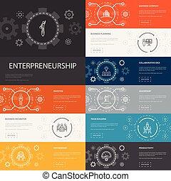 icônes, icons1, bâtiment, ligne, association, banners., équipe, entrepreneurship, infographic, simple, investisseur, 10, direction