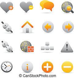 icônes internet, |, jaune, 05