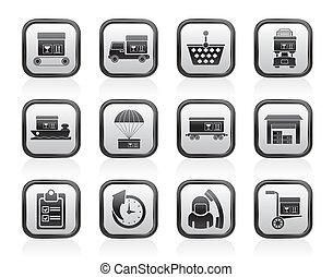 icônes, logistique, expédition, cargaison