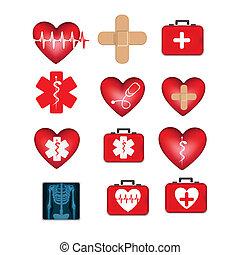 icônes, monde médical