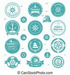 icônes, nautique