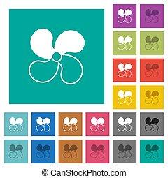icônes, niveau, ventilateur, multi, voiture, coloré, plat, 2, carrée