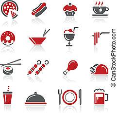 icônes nourriture, /, ensemble, 2, de, 2, //, redico, s