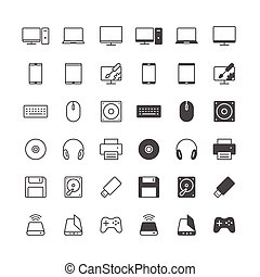 icônes ordinateur, included, normal, et, permettre, state.