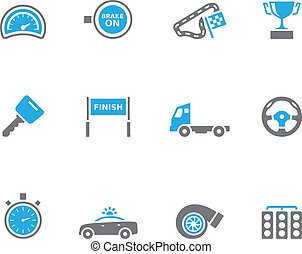 icônes, plus, courses, -, duotone